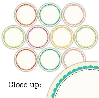 Scallop circle tags