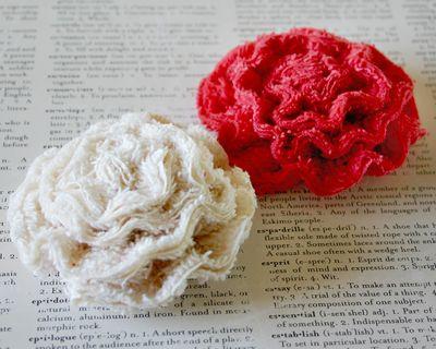 Red Chenille Flower 1