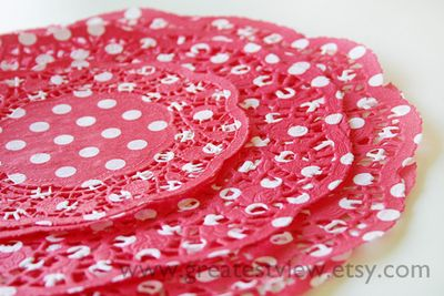 Red and White Doilies 1 w